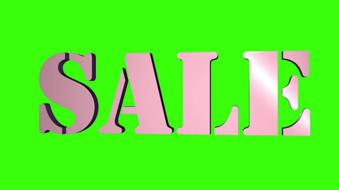 Sale 3D Text Title. 3D Text Rotating Letters Sale. Inscription For Motion Posters Banners. 1