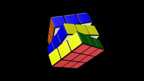 The Transformation Of The Rubik's Cube With Animation And Rotation. Animated Rubik's Cube. Rubik 1