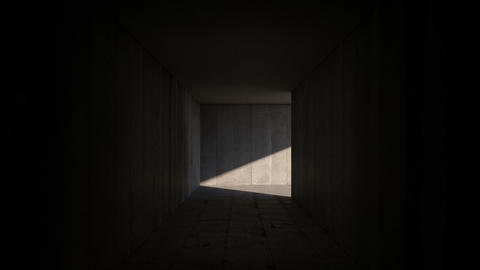 Dolly shot through the passage. 3D Animation GIF