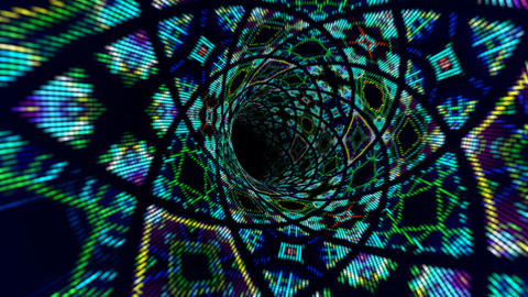Kaleidoscope tunnel Animation