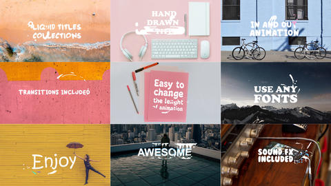 Liquid Titles Collection After Effects Template