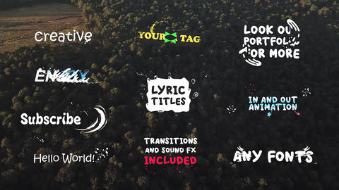Lyric Titles After Effects Template