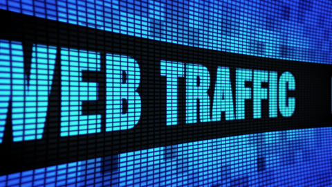 Web Traffic Side Text Scrolling LED Wall Pannel Display Sign Board Footage