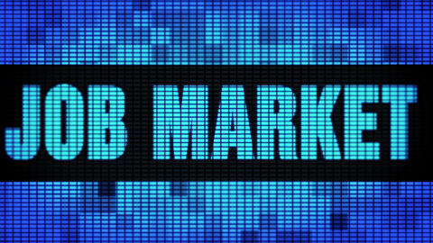 Job market Front Text Scrolling LED Wall Pannel Display Sign Board Live Action