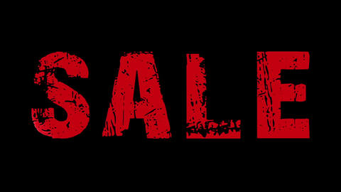 SALE animated text with moving hand and finger 2 Stock Video Footage