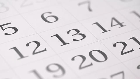 Marked the thirteenth 13 day of a month in the calendar... Stock Video Footage