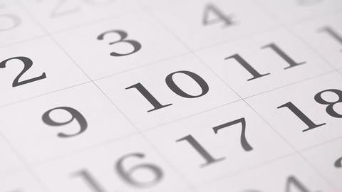 Marked the tenth 10 day of a month in the calendar… Stock Video Footage