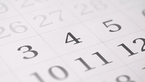 Marked the fourth 4 day of a month in the calendar…, Live Action