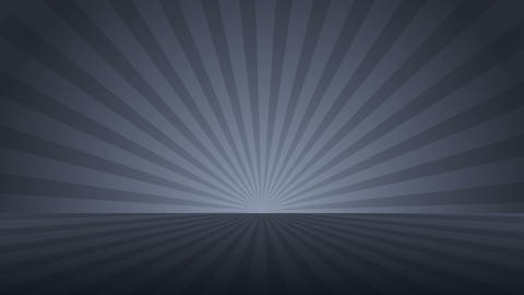 Rotating monochrome radial rays. Shiny background with ray of light. Gray abstract space. Loop Animation