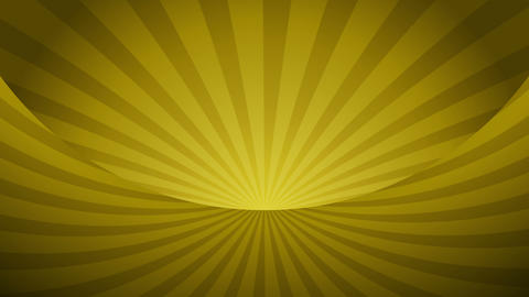 Rotating yellow radial rays. Shiny background with ray of light. Gold abstract space. Loop animation Animation
