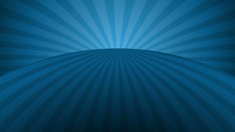 Rotating blue radial rays. Shiny background with ray of light. Blue abstract space. Loop animation Animation
