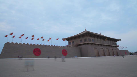 Scenes Of Daming Palace National Heritage Park , xi'an,shaanxi,China Footage