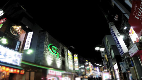 Tokyo, Shinjuku Of A State Of Kabukicho./東京、新宿の歌舞伎町の様子 stock footage
