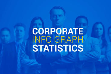Corporate Info Graph Statistics stock footage