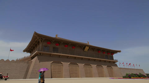 Scenes Of Daming Palace National Heritage Park , xi'an,shaanxi,China Live Action