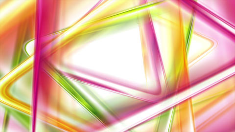 Colorful smooth triangles tech video animation Animation