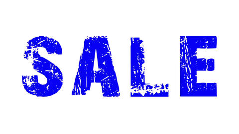 SALE animated text with moving hand and finger 11 Stock Video Footage