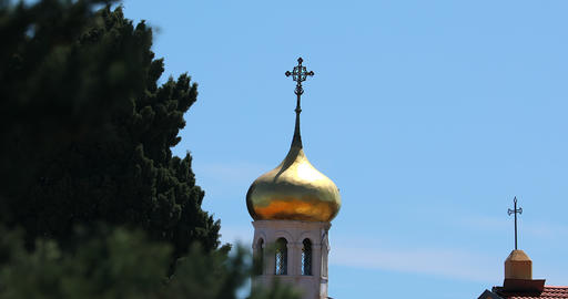Golden Dome Of The Orthodox Church Footage