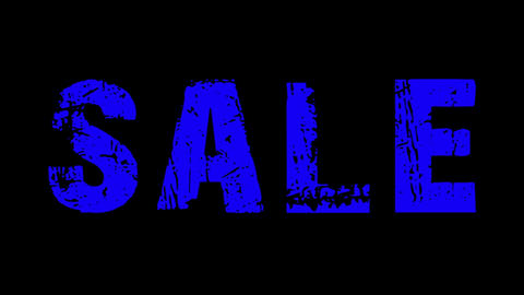 SALE animated text with moving hand and finger 21 Animation