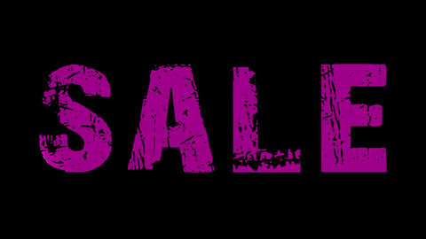 SALE animated text with moving hand and finger 26 Stock Video Footage