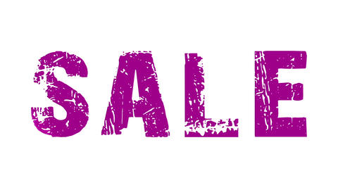 SALE animated text with moving hand and finger 27, Stock Animation