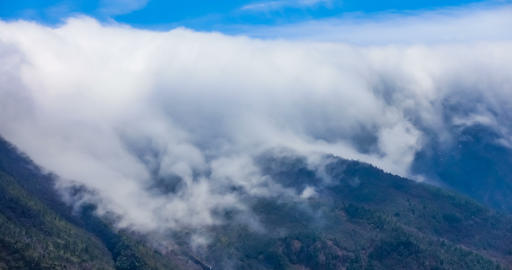 Timelaspe shot of Cloud waterfall in Western Sichuan,Sichuan,China Live Action
