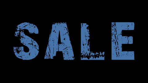 SALE animated text with moving hand and finger 29 Animation