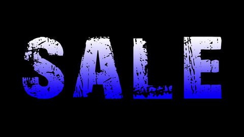 SALE animated text with moving hand and finger 32 Animation