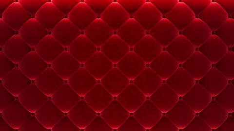 [alt video] 3D motion animation along the red quilted velvet wall....