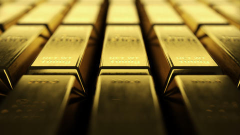Infinite rows of fine gold bars Animation