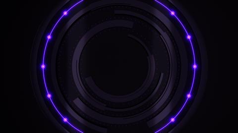 Futuristic broadcast circles animation purple-blue Animation