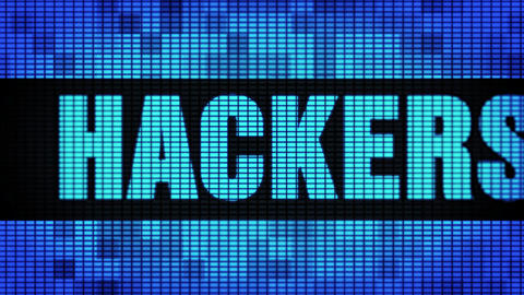 Hackers Hackers Text Scrolling LED Wall Pannel Display Sign Board Live Action