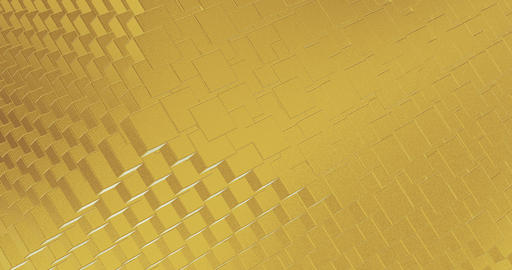 Abstract geometric golden backgroundfoil tiles texture... Stock Video Footage
