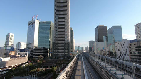 Japan city scenery. Office town perspective Footage