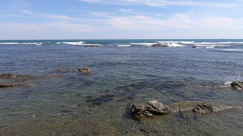 Sea horizon and water surface ripples ビデオ