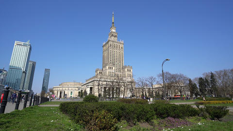 Palace of Culture and Science in Warsaw Live Action