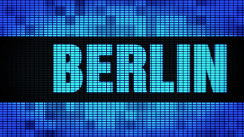 BERLIN Front Text Scrolling LED Wall Pannel Display Sign Board Footage