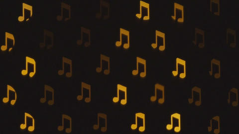 Blurred abstract musical notes. Musical background Footage