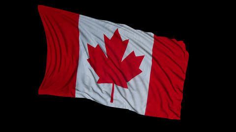 Canadian Flag CG動画