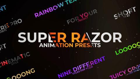 Super Razor Text Premiere Proエフェクトプリセット