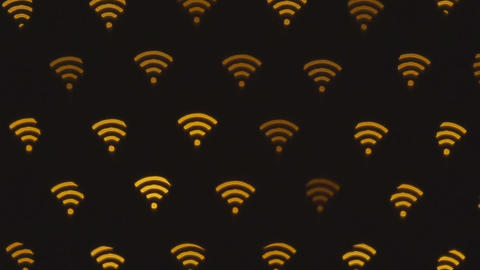 WIFI symbol abstract background. Icon connection to the wifi, wireless network icon Live Action