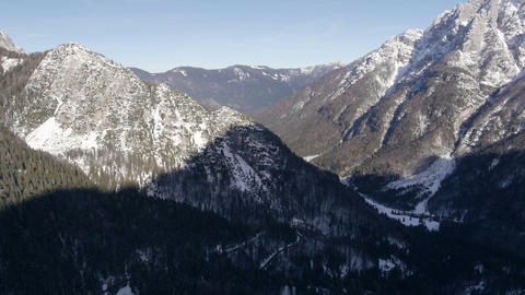 Aerial - Late afternoon in the Julian Alps Footage