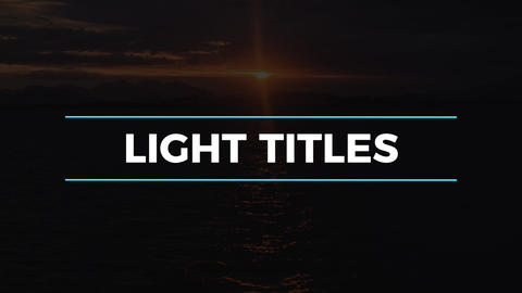 Light Titles & Lower Thirds Premiere Pro Template