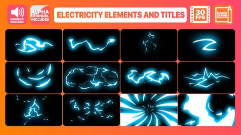 Electricity Elements And Titles After Effectsテンプレート