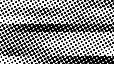 Black-White Dots 4K Animation