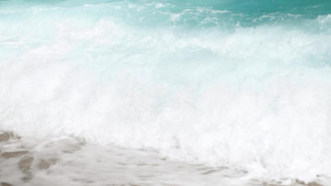 4k slow motion video of powerful turquoise sea waves... Stock Video Footage