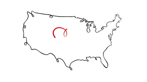 United States of America Heart Self-Animated Drawing 2D Animation Animation