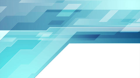 Blue abstract technical geometric video animation Animation