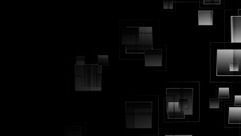 Abstract black glossy squares geometric video animation Animation