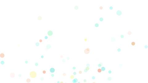 水玉模様の楽し気な背景素材 CG動画